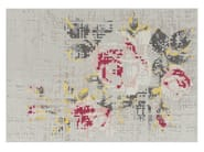 Wool rug with floral pattern FLOWERS NATURAL | Rug - GAN By Gandia Blasco