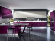 Lacquered fitted kitchen FLUX - Scavolini