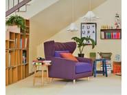 Fabric sofa with headrest FOLK | Leather sofa - SANCAL