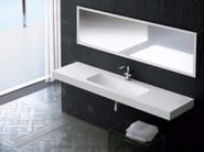 Rectangular single wall-mounted Silexpol® washbasin FONTANA IECILG - Fiora