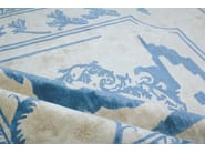 Handmade rectangular custom rug FONTENAY NEW AGE SKY - EDITION BOUGAINVILLE