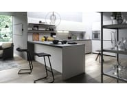 Fitted kitchen with peninsula FORMA MENTIS - ANGEL SKIN - VALCUCINE