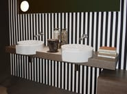Design Pietraluce® washbasin countertop FORTY6 - CERAMICA FLAMINIA