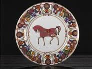 Porcelain plates set FOUR HORSES | Plates set - Formitalia Group