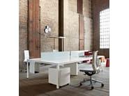 Sectional rectangular workstation desk FRAME + OPERATIVE - Sinetica Industries