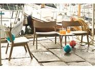 Contemporary style stackable oak garden armchair FRAME OUT 14 | Garden armchair - Very Wood