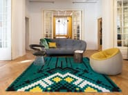Handmade square wool rug with geometric shapes FRISKY - Dare to Rug