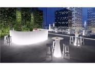 Illuminated bar counter FROZEN CORNER LIGHT - PLUST Collection by euro3plast