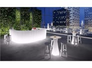 Illuminated bar counter FROZEN DESK LIGHT - PLUST Collection by euro3plast