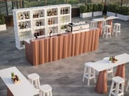 Outdoor polyethylene bar cabinet FROZEN DISPLAY - PLUST Collection by euro3plast