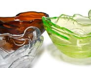 Blown glass bowl FROZEN | Glass bowl - Lasvit