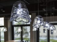 Blown glass pendant lamp FROZEN - Lasvit