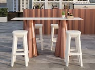 Sgabello da bar in polietilene FROZEN SQUARE - PLUST Collection by euro3plast