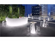 Polyethylene table with light FROZEN TABLE LIGHT - PLUST Collection by euro3plast