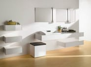 Storage suspended bathroom cabinet with drawers FU10007A-MW | Storage bathroom cabinet - TOTO