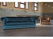 Tufted 4 seater fabric sofa 800 | Fabric sofa - Domingo Salotti
