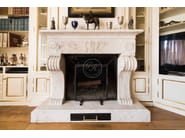 Wall-mounted natural stone fireplace Fireplace 1 - Garden House Lazzerini