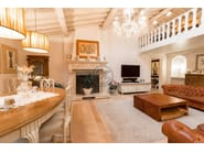 Wall-mounted natural stone fireplace Fireplace 2 - Garden House Lazzerini