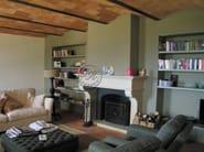 Wall-mounted natural stone fireplace Fireplace 5 - Garden House Lazzerini
