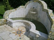 Natural stone Fountain Fountain 2 - Garden House Lazzerini