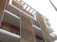 Motorized aluminium solar shading SUNLINE | FRANGISOLE | Aluminium solar shading - SIDEL