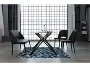 Rectangular glass and steel table GARBO - KARE-DESIGN