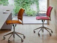 Fabric task chair with 5-Spoke base with casters GAS | Fabric task chair - STUA