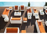 2 seater sofa with synthetic fiber weaving GIADA | 2 seater sofa - Varaschin