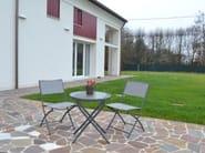 Folding round steel garden table GIARDINO - Enjoy your Life by Idrobase Group