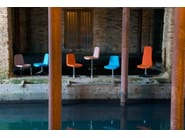 Contemporary style swivel upholstered fabric chair GIBBS MEDIUM | Swivel chair - Domingo Salotti