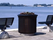 Galvanized steel Flower pot GINEVRA - Bellitalia