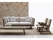 Rectangular teak garden side table GIO | Garden side table - B&B Italia Outdoor, a brand of B&B Italia Spa