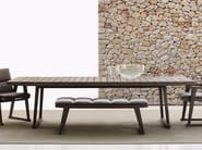 Rectangular teak garden table GIO | Garden table - B&B Italia Outdoor, a brand of B&B Italia Spa