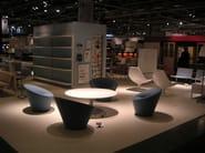 Swivel upholstered armchair GIROLA - Tacchini Italia Forniture