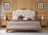 Upholstered leather bed with tufted headboard GIULIETTA E ROMEO   Bed - Arvestyle