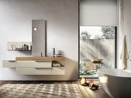 Wall-mounted vanity unit with drawers GIUNONE 354 - Edoné by Agorà Group