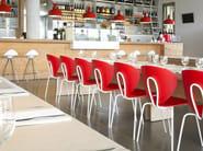 Stackable polypropylene chair GLOBUS | Polypropylene chair - STUA