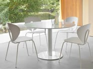 Stackable lacquered chair GLOBUS   Lacquered chair - STUA