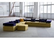 Fabric sofa with removable cover GO | 3 seater sofa - Adrenalina