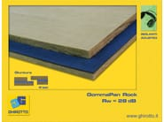 Mineral fibre Sound insulation and sound absorbing panel in mineral fibre GOMMAPAN ROCK - GHIROTTO TECNO INSULATION