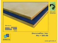 Glass wool sound insulation panel GOMMAPAN VER - GHIROTTO TECNO INSULATION