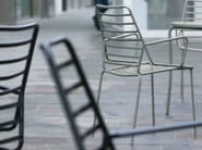 Stackable metal chair with armrests GORKY - iCarraro italian makers