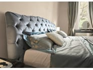 Fabric double bed with tufted headboard GRACE | Bed - Fratelli Longhi