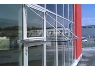 Glass and Stainless Steel door canopy GRAN SASSO - FARAONE