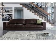 4 seater leather sofa GRANDEZZA - KARE-DESIGN