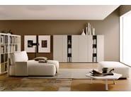 Wardrobe with coplanar doors GRAPHOS | Sectional wardrobe - Silenia