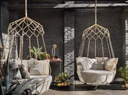 Steel garden hanging chair GRAVITY | Garden hanging chair - Roberti Rattan