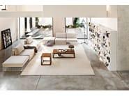 Upholstered steel armchair GRID | Armchair - Varaschin