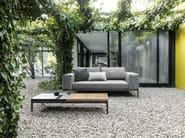 Contemporary style garden side table GRID | Coffee table - Gloster