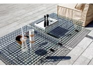 Square steel and glass coffee table GRID | Coffee table - Varaschin